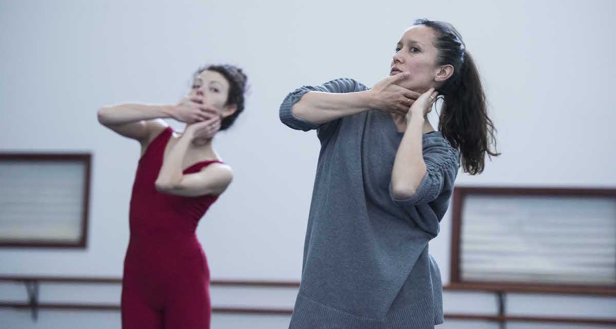 Melanie Lane in rehearsal with Juliet Burnett. Photo by Ron Fung.