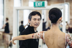 Queensland Ballet Artistic Director Li Cunxin with Lina Kim. Photo courtesy of Queensland Ballet.