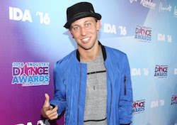 Matt Steffanina arrives at the 2016 Industry Dance Awards and Cancer Benefit Show. Photo By John Salangsang/Sipa USA.