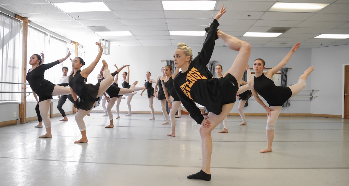 Boston Ballet Principal Dusty Button teaching a mock audition class. Photo by Mitchell Button.