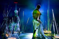 Felicity Bott and Tasdance company dancer Joshua Thomson in 'Dark Mofo'. Photo by Nicholas Higgins