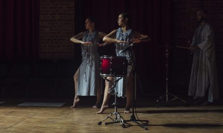 'Noise Quartet Meditation', choreographed by Lilian Steiner. Photo by Lauren Dunn