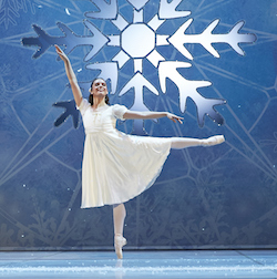 West Australian Ballet's Carina Roberts as Clara in 'The Nutcracker'. Photo by Sergey Pevnev