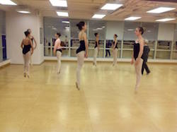 Karen Malek leading a master class at the Southern School of Dance in Hong Kong. Photo by Rebecca McMullin.