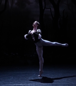 Queensland Ballet's Alexander Idaszak as Albrecht in 'Giselle'. Photo by David Kelly.
