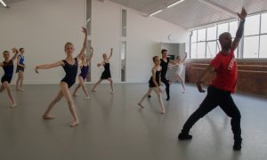 Denzil Bailey leads a ballet class. Photo by Julia Forsyth.