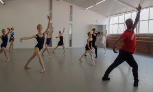 Denzil Bailey leads a ballet class. Photo by Julia Forsyth.