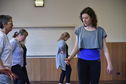 Diana Scalzi, independent artist, teaching beginner tap. Photo by Michael Emill Firminger.