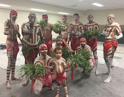 Muggera before performing at the Indigenous All Stars. Photo courtesy of Muggera.