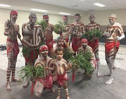 Muggera before performing at the Indigenous All Stars. Photo courtesy of Muggera.