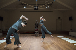 Briarna Longville and Lilian Steiner in 'Noise Quartet Meditation'. Photo by Gregory Lorenzutti for Dancehouse.