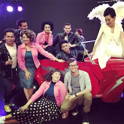 Dami Im, Callum Mansfield and the cast of 'Grease'. Photo by Nick Morrissey Photography