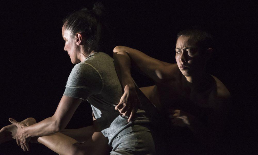 Melanie Lane and Lilian Steiner in Lucy Guerin's 'Split'. Photo by Gregory Lorenzutti.