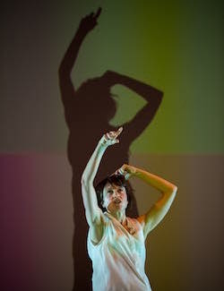 Nicola Gunn's 'Piece For Person and Ghetto Blaster'. Photo by Gregory Lorenzutti.