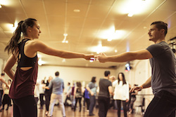 Dancers participating in a Le Bop class. Photo by Pippa Samaya..