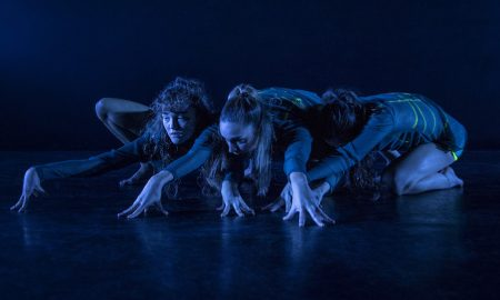 Allie Graham, Jennifer Horvath and Kristie Pike in Limitless Dance's 'SE7EN'. Photo by Peter Sharp.