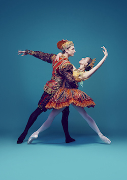 The Australian Ballet's Kevin Jackson and Leanne Stojmenov in 'Nutcracker: The Story of Clara'. Photo by Justin Ridler.