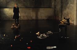 Nikki Heywood in rehearsal at FraserStudio. Photo by Heidrun Lohr.