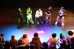 Panel at PACT Salon, 'The Big Bounce'. Photo by Carla Zimbler.
