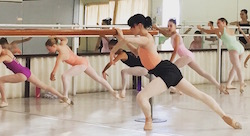 Dusty Button teaching at International Ballet Workshops. Photo courtesy of IBW.