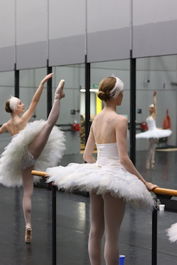 Talia Fidra (left). Photo courtesy of Queensland Ballet.