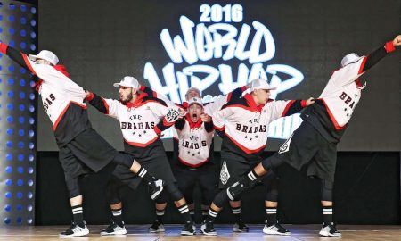 The Bradas Dance Crew at the 2016 World Hip Hop Dance Championship. Photo courtesy of Hip Hop International.