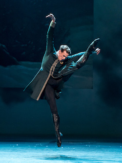 The Royal Ballet's Edward Watson in 'The Winter's Tale'. Photo by Darren Thomas.