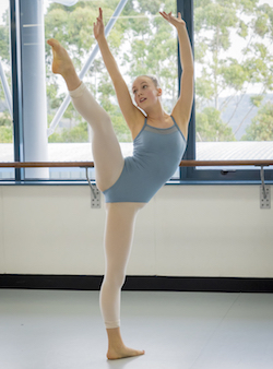 A Sydney College of Dance student. Photo courtesy of SCD