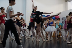 Dusty Button leading a class at International Ballet Workshops. Photo courtesy of IBW.