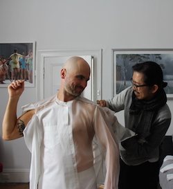 'EVER' costume fittings with Akira Isogawa. Photo courtesy of BalletLab.