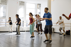 Derick Grant's tap class at Steps on Broadway. Photo by Rosalie O'Connor.