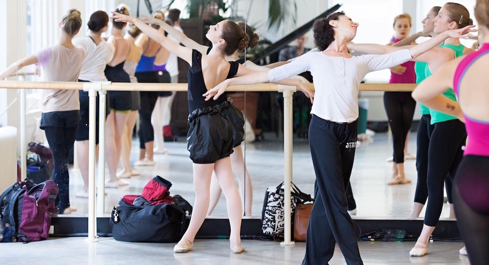 Elena Kunikova's ballet class at Steps on Broadway. Photo by Sofia Negron Photography.