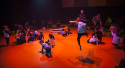Performance of 'Loop'. Photo courtesy of Arts Centre Melbourne.