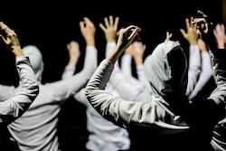 Transit Dance Second Year dancers in Paul Malek's 'CHAIR'. Photo by Malek.
