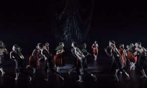 Bangarra Dance Ensemble in 'Ngathu'. Photo by Daniel Boud.