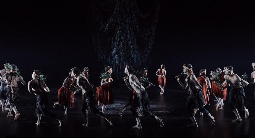Bangarra Dance Ensemble in 'Ngathu'. Photo by Daniel Boud.