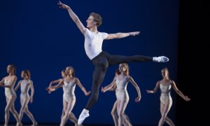 Het Nationale Ballet's Remi Wörtmeyer in 'Symphony in Three Movements'. Photo by Angela Sterling.