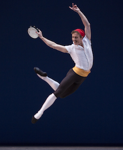 Het Nationale Ballet's Remi Wörtmeyer in 'Tarantella Pas de Deux'. Photo by Angela Sterling.