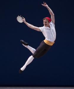 Het Nationale Ballet's Remi Wörtmeyer in 'Tarantella Pas de Deux'. Photo by Angela Sterling.