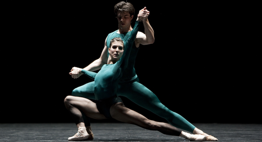 Nadia Yanowsky in William Forsythe's 'In the Middle, Somewhat Elevated'. Photo Angela Sterling.