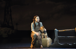 Samantha Leigh Dodemaide and Trouble in 'The Wizard of Oz'. Photo by Jeff Busby.