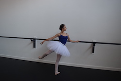 Tabitha Wachter at Charlesworth Ballet Institute. Photo courtesy of Wachter.