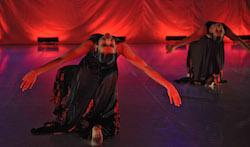 Tabitha Wachter in performance in Salzburg, Austria. Photo by SIBA, Nilli Glazer.
