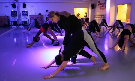 Emily Bufferd teaching at Broadway Dance Center. Photo by Ali Koinoglou.