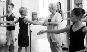 Karen Malek teaching. Photo by Paul Malek.