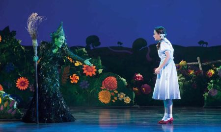 Jemma RIx and Samantha Dodemaide in 'The Wizard of Oz'. Photo by Jeff Busby.