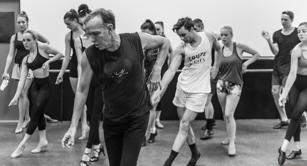 William Forsythe leads a class. Photo courtesy of Forsythe.