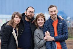 2018 Fellowship recipients Marie-Lena Kaiser, Alexander Achour, Kareth Schaffer, Scott Elstermann. Photo by Sala Seddiki.