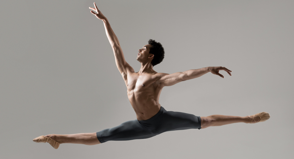 Ballet man leaping in the air