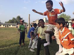Circus Kathmandu outreach workshop. Photo courtesy of CK.